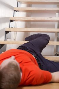 Fallen Down Basement Stairs