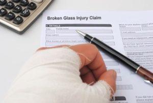 Broken Glass Injury Claim